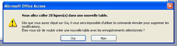 insertion des enregistrements dans la table travailler_avant